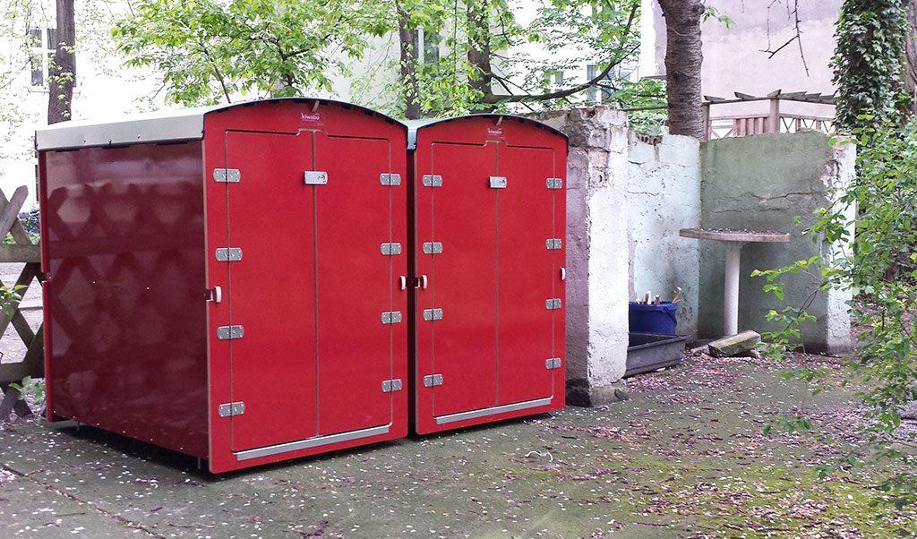 2 Kinderwagenboxen kiwabo XXL in rot