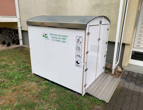 Die Wohnungsbaugesellschaft Coswig vermietet Minigaragen