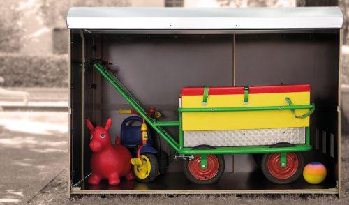 Volumenbild kiwabo XXL, Unterstellmöglichkeit für Krippenwagen