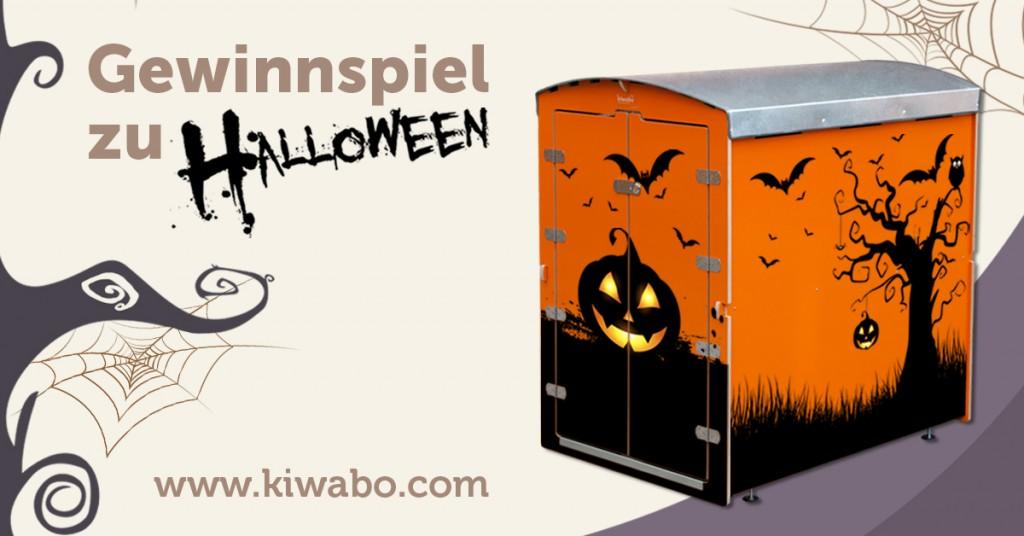 Halloween Gewinnspiel Kinderwagenbox mit Kürbis