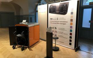 mit kleinem Stand und Showbox haben wir auf dem Mitteldeutschen Immobilienkongress teilgenommen