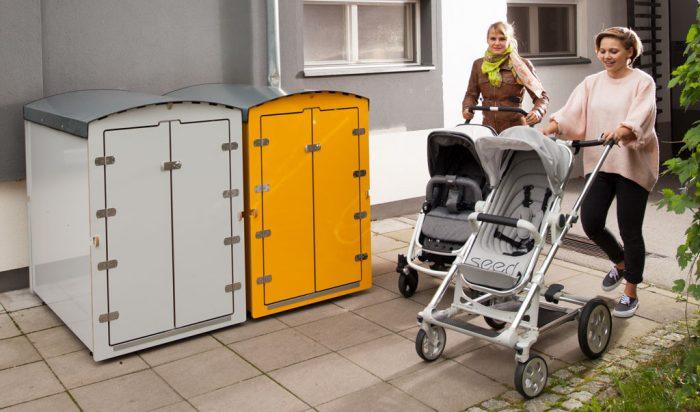 kiwabo, die Aufbewahrungslösung für Kinderwagen