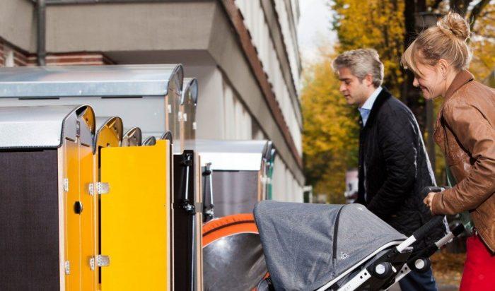 Minigaragen für Kinderwagen und Fahrradanhänger