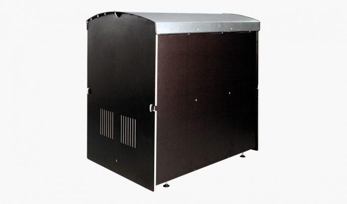 Die rollabo S Rückansicht - Rollatorbox S