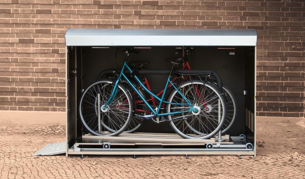 Volumenbild farabo X2 mit Schublade für 2 Fahrräder
