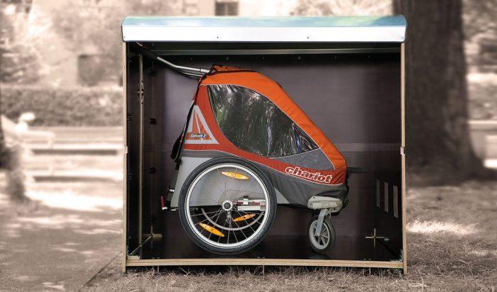 Volumenbild kiwabo Xl für Zwillingskinderwagen oder Fahrradanhänger