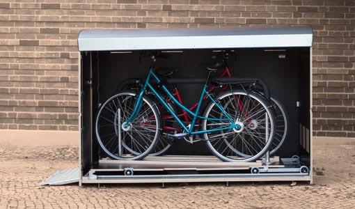 farabo x 2 Mit Schublade, Unterstand für 2 Fahrräder