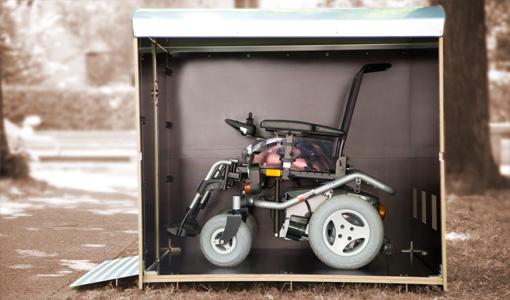 Wie viel Platz hat eine Rollatorbox? Volumenbild der Rollabo XL