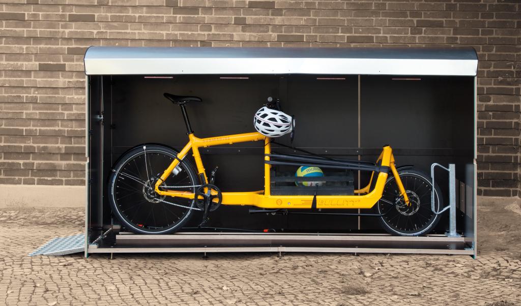 Wie viel Platz hat eine Fahrradbox XXL? Ein Volumenbild farabo XXL