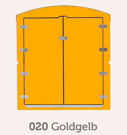 Kinderwagenbox in gold gelb Frontansicht