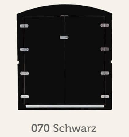 Kinderwagenbox in schwarz Frontansicht