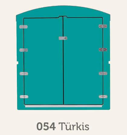 Kinderwagenbox in türkis - Frontansicht