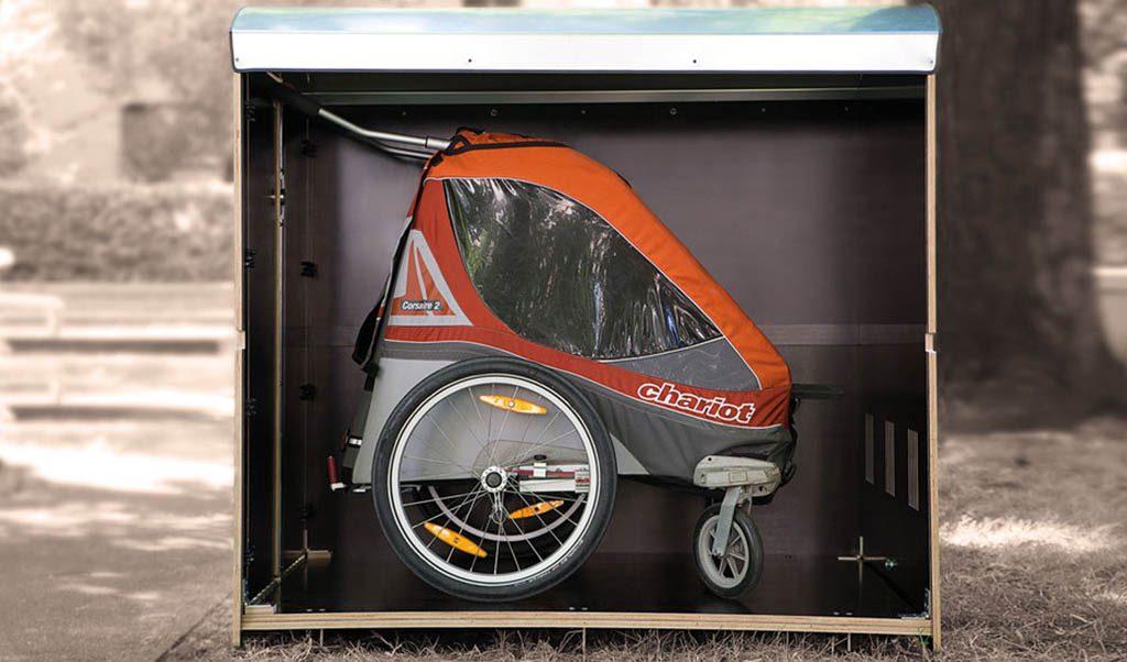 kiwabo XL, Minigarage für Fahrradanhänger oder Zwillingskinderwagen