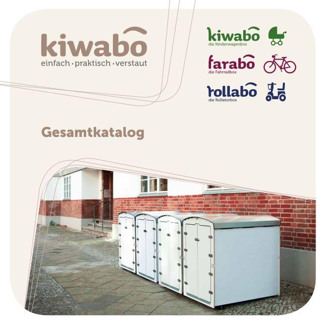 Titelseite des Kiwabo Gesamtkatalog für kiwabo, farabo und rollabo Produkte