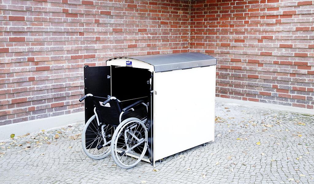 rollabo L Seitenansicht mit Rollstuhl