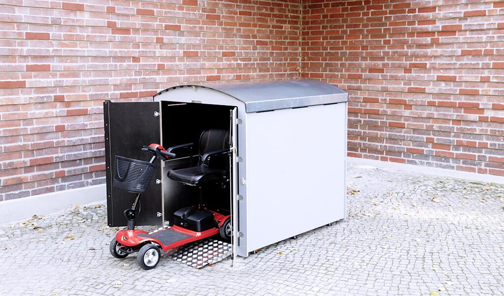 rollabo XL, die Minigarage für kleine E-Scooter